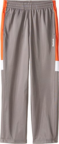 Reebok Big Boys' Boy Tricot Pant, Grey/Orange, X-Large