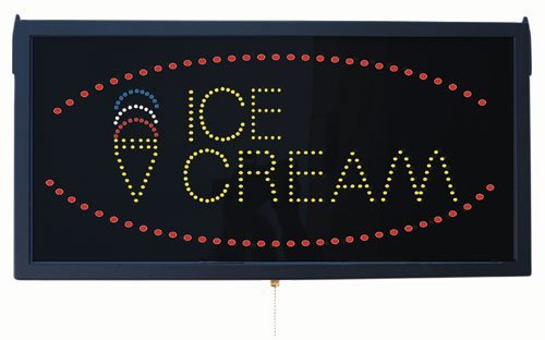 High Visibility Led Ice Cream Sign