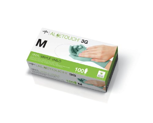 Aloetouch 3G Powder-Free Latex-Free Synthetic Exam Gloves,Small, Qty 1000