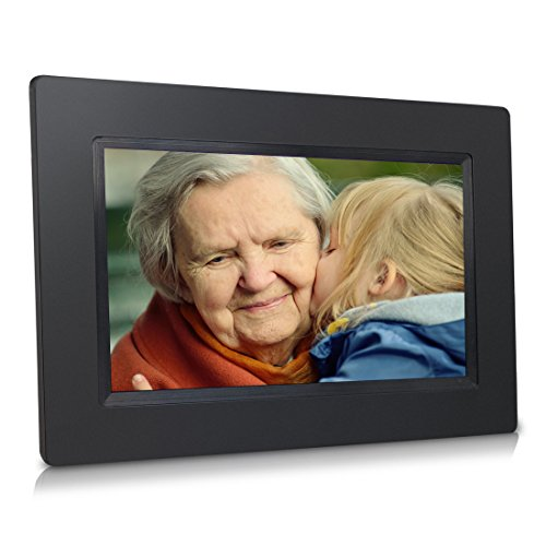 Sungale 7 Inch WiFi Cloud Digital Photo Frame with Touch Panel, Free Cloud Storage, High-Resolution 1024x600 IPS Screen (Black) (Send Picture compare prices)