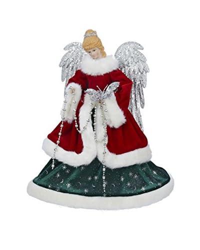 """Kurt Adler 16"""" Red and Green Angel Treetopper"""