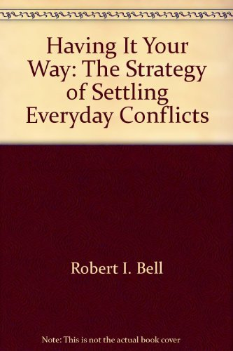 Title: Having it your way The strategy of settling everyd