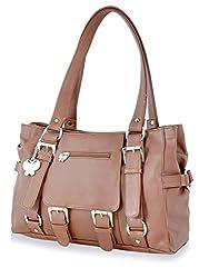 Butterflies Women's Handbag (Tan) (BNS 0356 TN)
