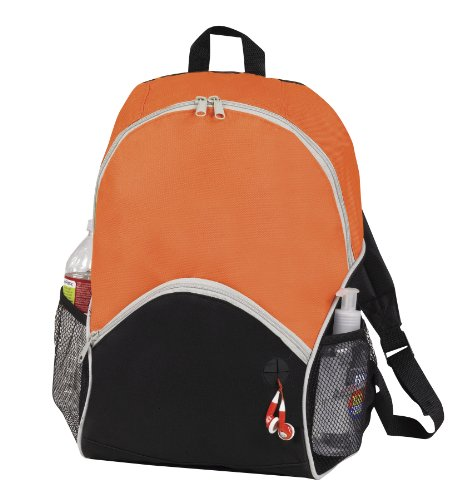 Sports Backpack Bookpack with Ipod Port, Orange by BAGS FOR LESSTM - 1
