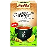 Yogi Tea Organic Ginger Lemon Green (Pack of 1, Total 17 Tea bags)