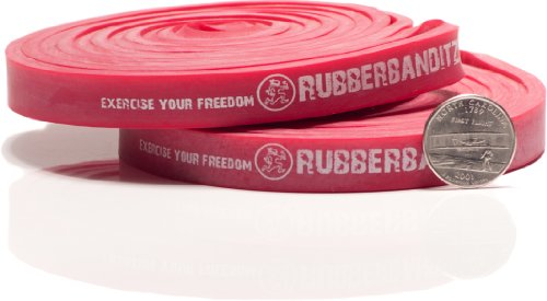 Pair of RB Medium Pull Up Bands - #2 Red - 20 - 35 lb (9-16 kg) Resistance