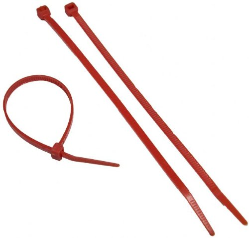 Red Nylon Cable Ties 50Lb 11""