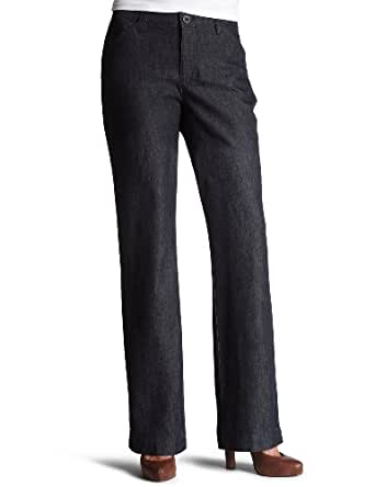 Lee Women's Comfort Fit Straight Leg Pant, Indigo Rinse, 12 Medium