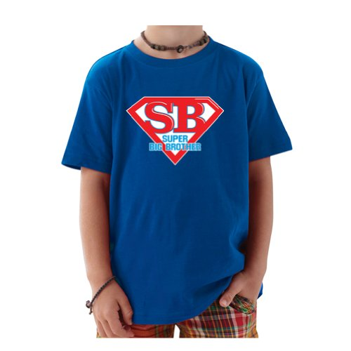 So Relative! Super Big Brother Super Hero Baby-Boys & Kids T-Shirt (Royal, Youth X-Small (2-4)