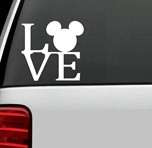 CMI361 MICKEY MOUSE EARS LOGO Vinyl Decal Sticker DISNEY for Car Truck SUV Boat Trailer Mirror Wall Laptop Art