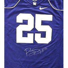 Bishop Sankey Autographed Signed Nike Uw Huskies Purple Jersey Size L Mcs Holo -...