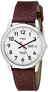 Timex® Men's Easy Reader Brown Leather Watch #T20041