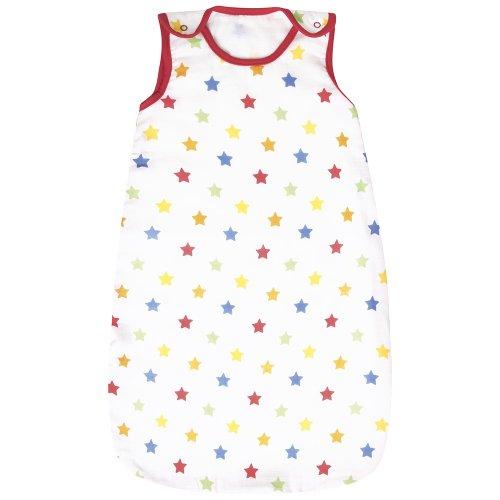 Jojo Maman Bebe Baby Muslin Sleeping Bag, Multi Star, 0-6 Months front-764880