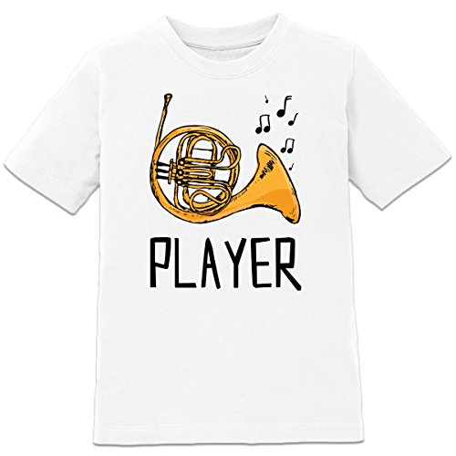 French-Horn-Player-Illustration-Kinder-T-Shirt-by-Shirtcity