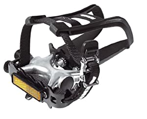 Raleigh Pedals Toe Clip and Strap Combination - Black, 9/16 Inch