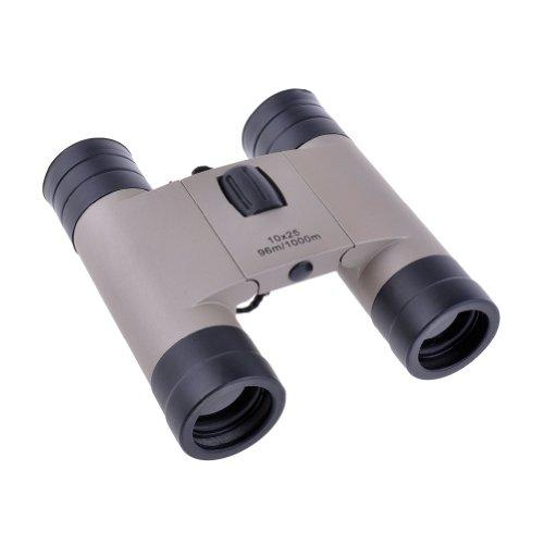 Neewer Compact Beige Fold-Down 10 X 25Mm Binocular Telescope For Sports, Birdwatching, Hunting, Boating
