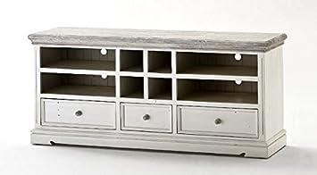TV-lowboard, TV-Board, TV-Tisch Opus Landhausstil weiss