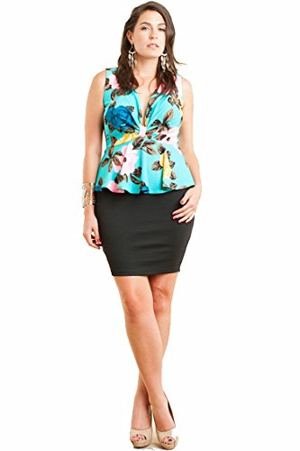 Symphony Plus Size Summer Peplum Mini Dress