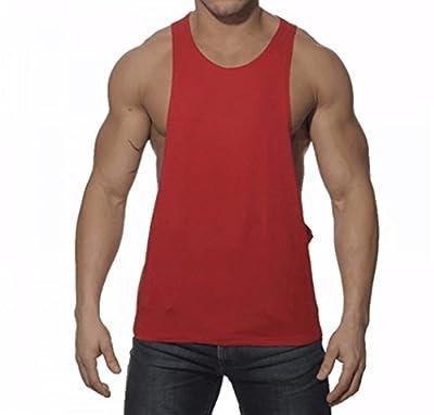 Q&Y Men's Muscle Cut Stringer Workout T-shirt Bodybuilding Tank Top