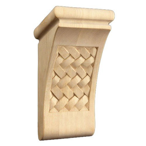 Brown Wood Inc. 01602070CH1 Full Weaved Decorative Wood Corbel, Cherry