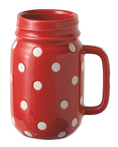 Midwest CBK 16oz Red Polka Dot Mason Jar with Handle (Polka Dot Cookware compare prices)