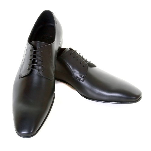 Hugo Boss Black Label Mens Meton 50239501 Black Leather Classic Shoes Boss0931