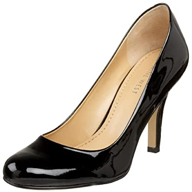 Nine West Women's Ambitious Pump,Black Patent,5.5 M US