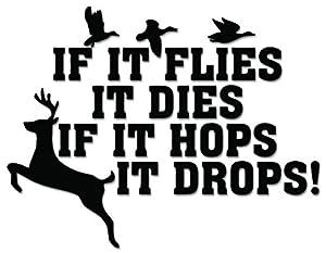 Amazon.com: Deer Duck Hunting Funny Dies Hops Vinyl Decal Sticker For