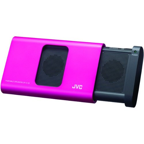 Jvc Sp-A130-Pn Color Matching Portable Stereo Speakers For Ipod, Pink