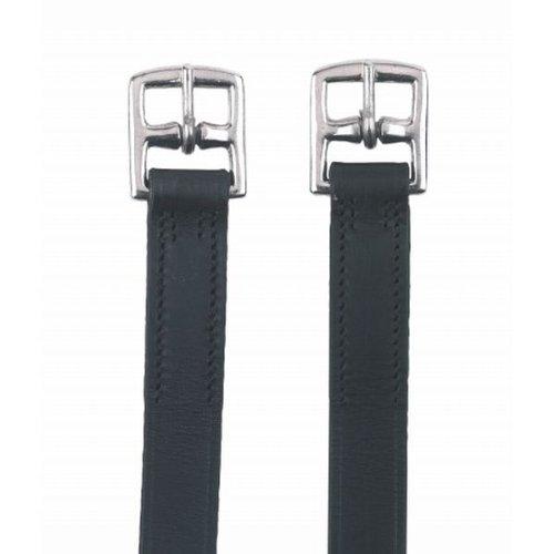 Kerbl Steigbügelriemen für Kinder, 130cm, schwarz