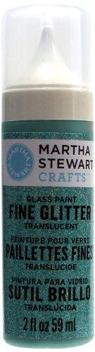 Martha Stewart Fine Glitter Translucent Glass Paint, 2-Ounce, Feldspar front-163355