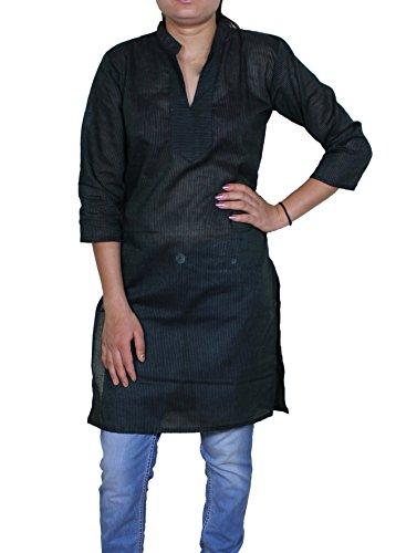 Delle donne tunica top con scollo a V indiano T casuali manica corta t-shirt camicetta -91 CM