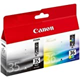 Canon PGI35 Black and CL36 Colour Ink Pack