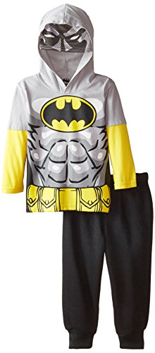 Warner Brothers Boys' Batman Boys Hooded Mask Top with Fleece Pant at Gotham City Store