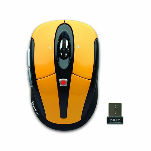 2.4Ghz Wireless Optical Tilt Wheel Mouse (Yellow)