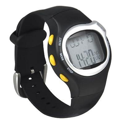 SODIAL (R) Neue Sport-Puls-Monitor-Kalorien wider Fitness-Armbanduhr-Schwarz