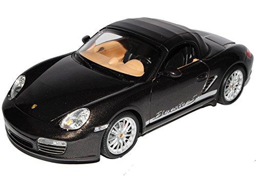 porsche-boxster-s-987-cabrio-soft-top-braun-schwarz-2004-2012-1-18-welly-modell-auto-mit-individiuel