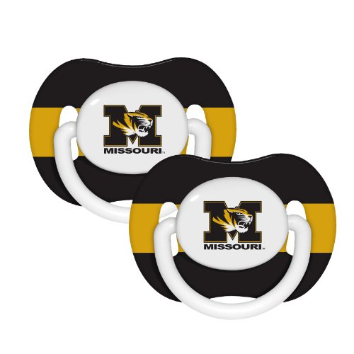 NCAA Missouri Tigers 2 Pack Pacifier - 1