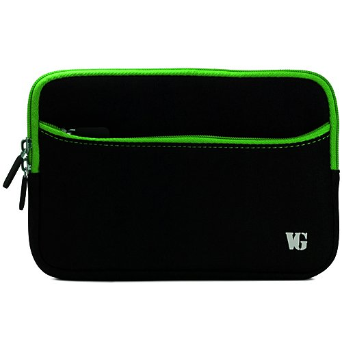 Green Trim Durable Neoprene Sleeve Carrying Case for Creative ZiiO (8GB, 16B) 10-Inch Android 2.2 Wireless Entertainment Tablet