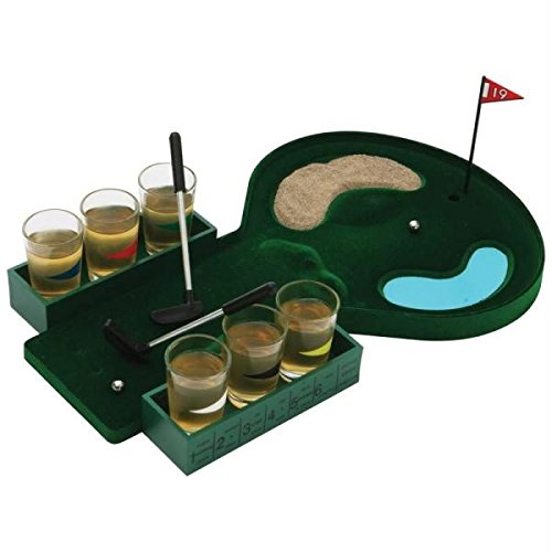 Golf Shot Glass Drinking Game Set