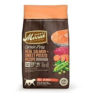 Merrick Grain Free Real Salmon & Sweet Potato Recipe - 25lb