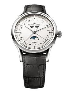 Maurice Lacroix Men's LC6068-SS00113E Les Classiques Silver Moonphase Dial Watch