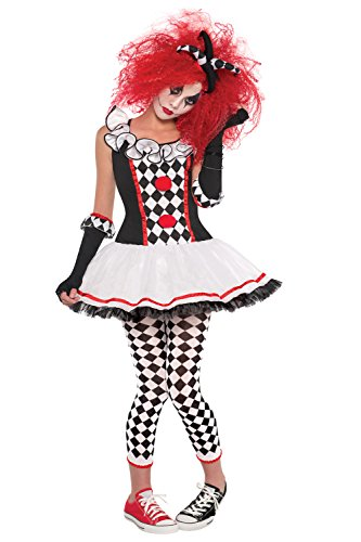 Womens Harlequin Honey Ladies Jester Fancy Dress Costume