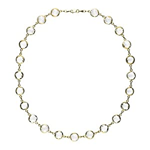 14k Yellow Crystal Quartz 10m Round - 34 Inch Necklace - JewelryWeb