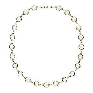 14k Yellow Crystal Quartz 10m Round - 34 Inch Necklace - JewelryWeb