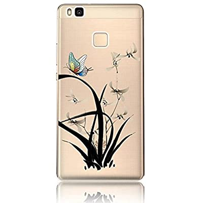 Huawei P9 Lite Case,Vandot Fashion Colorful Printing Ultra Slim Thin Perfect Fit Protective Skin Shell Clear Soft TPU Silicone Bumper Transparent Back Cover,Unique Design Landscape Flying Eagle