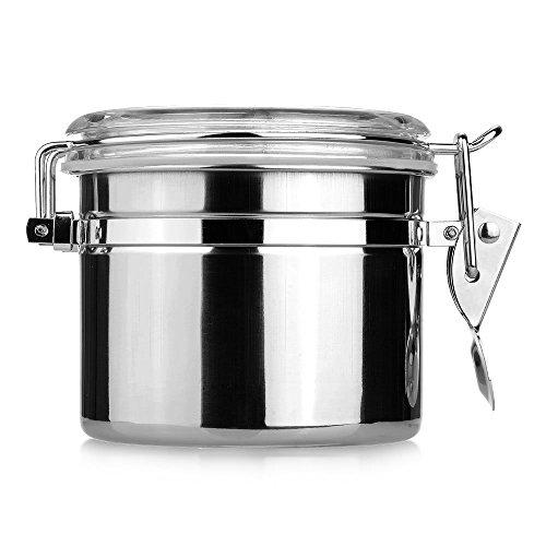 SODIAL(R) Pot Boite Bocal Sucrier Alimentaire a epice Sucre Poivre Sel Cuisine 7.5*9.3*10CM