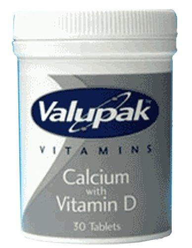 Valupak Vitamins Supplements Calcium & Vitamin D 400mg 30 Tablets