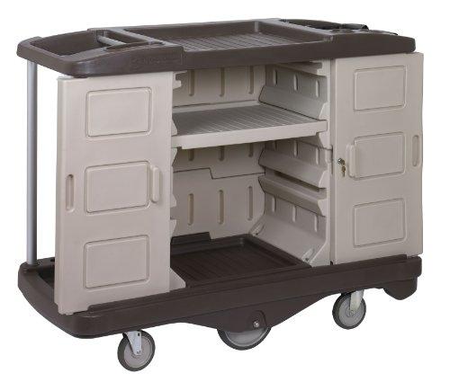 Continental 1585BEBN Beige/Brown Deluxe Lodging Cart