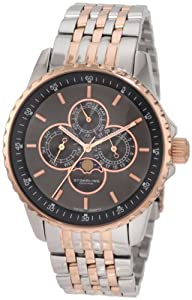Stuhrling Original Men's 214B.332241 Aquadiver Heracles Artemis Genteel Swiss Quartz Date Multi Function Stainless Steel Bracelet Watch